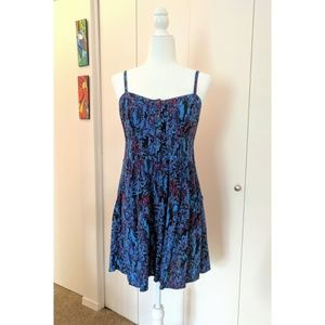Abstract Print Fit & Flare Mini Dress with Pockets